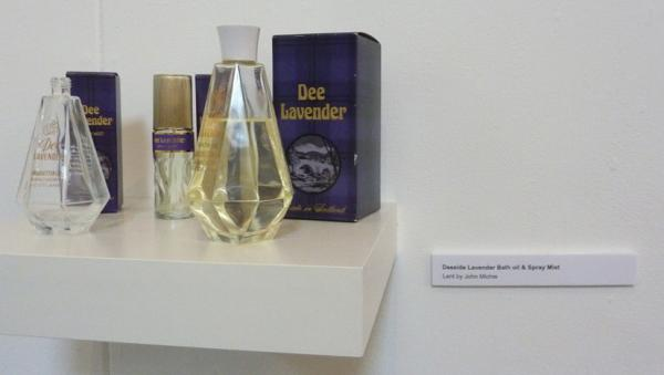 Dee Lavender products. Installation view.  Lent by John Michie