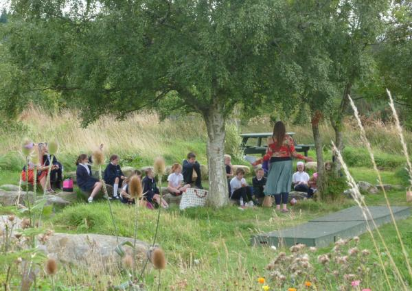 September 2013. The lavender project. Story telling in the Wild garden with Amanda Edmiston.